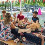 Piknik a Széna téren, népi gyerekjátszó a belvárosban