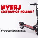 Elektromos roller nyereményjáték – felhívás
