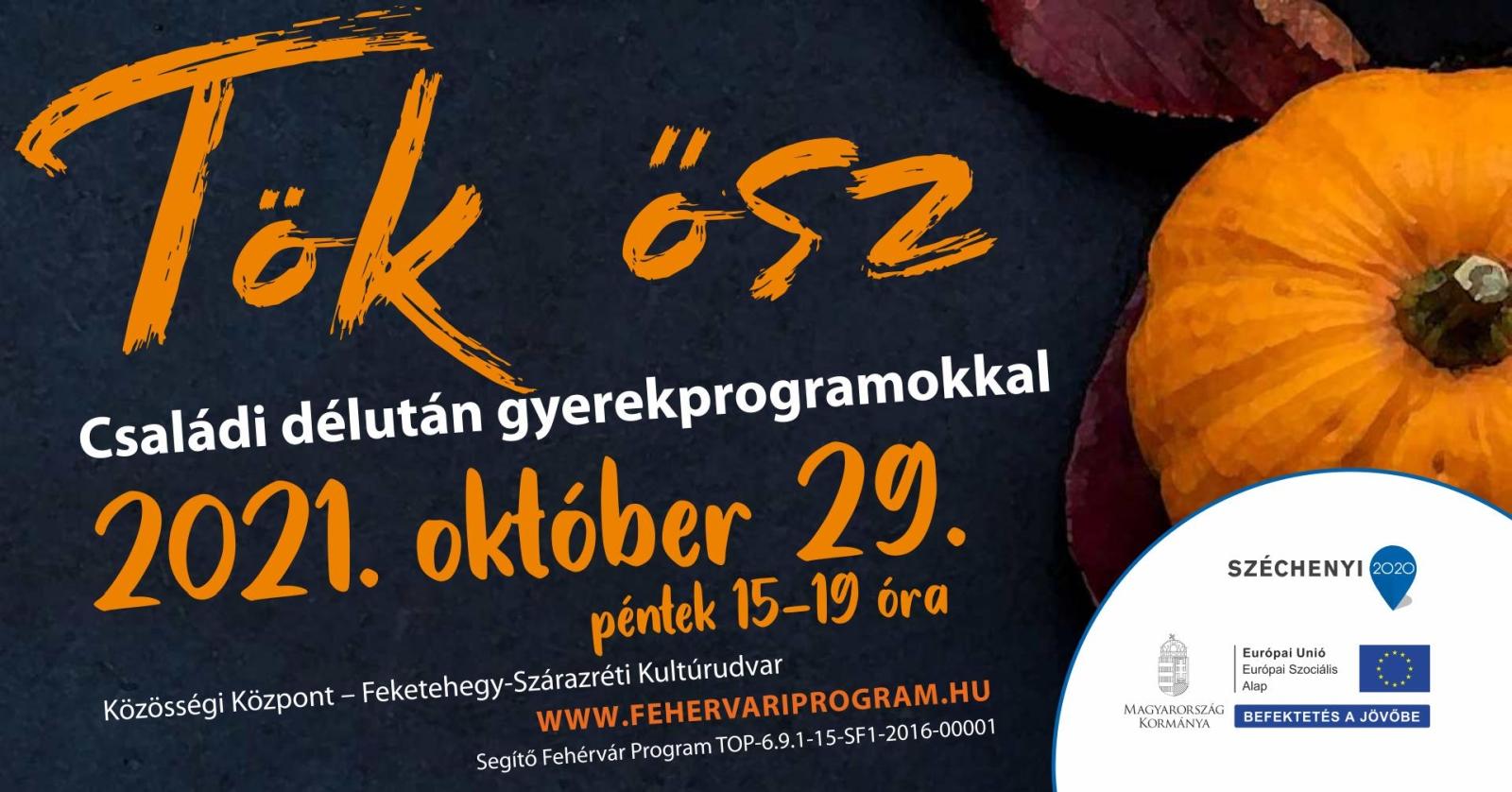 Tök ősz – családi délután gyerekprogramokkal @ Közösségi Központ – Feketehegy-Szárazréti Kultúrudvar